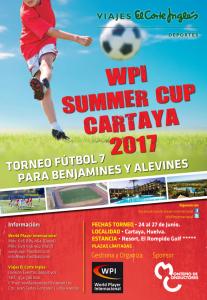 WPI SUMMER CUP CARTAYA 2017. CARTEL