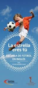 cartel escuela de futbol